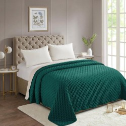 Dessus de lit bicolore 240X260cm LAVE - Vert