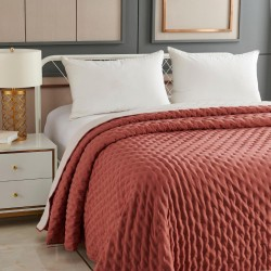 Dessus de lit bicolore 240X260cm LAVE, ROMANCE GYPSY - Rose