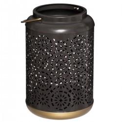 Lanterne en métal ajouré H19cm ROMANCE GYPSY - Noir