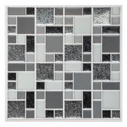 Sticker carré 25X25cm SHINE, CARO - Gris