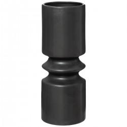Vase géométrique en céramique H30,5cm SAFARI LODGE - Noir