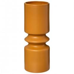 Vase géométrique en céramique H30,5cm SAFARI LODGE - Ocre