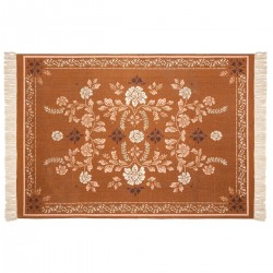 Tapis rectangle en coton 120X170cm ROMANCE GYPSY - Orange