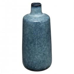 Vase en céramique H24,5cm FLOWER FACTORY - Bleu moucheté