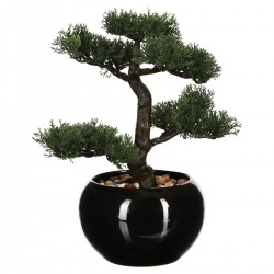 Bonsaï artificiel en pot H36cm - Noir