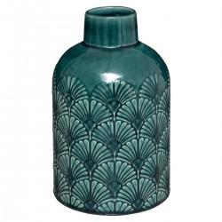 Vase en relief en céramique H21,7cm TO FEEL GOOD - Vert