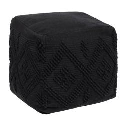 Pouf en tissu SAFARI LODGE - Noir