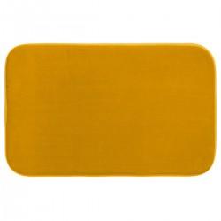 Tapis de salle de bain mémoire de forme 50X80cm - Jaune moutarde