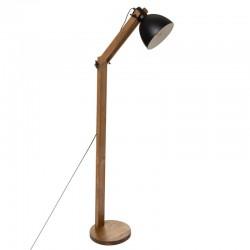 Lampadaire en bois de pin H158cm THE CUBA FACTORY - Marron et noir