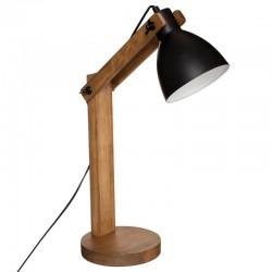 Lampe en bois de pin H56cm THE CUBA FACTORY - Marron et noir