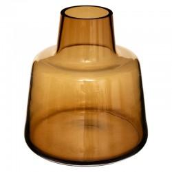 Vase épaule en verre H23cm - Ambre
