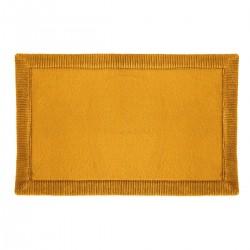 Tapis de salle de bain mémoire de forme 50X80cm TRIO - Jaune moutarde
