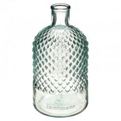 Vase en verre recyclé H22cm DIAMS - Transparent