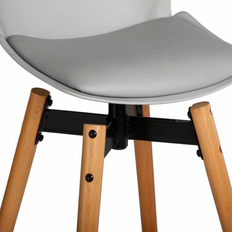 tabouret de bar wilio gris veo shop. Black Bedroom Furniture Sets. Home Design Ideas