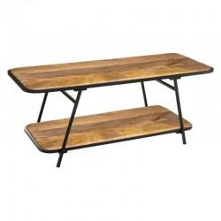 Table basse en bois de manguier 120X45cm KALIDA - Marron