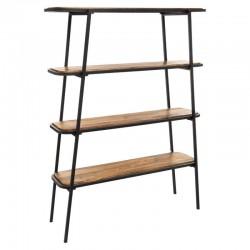 Étagère à 4 niveaux en bois de manguier KALIDA - Marron