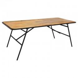 Table à dîner en bois de manguier 200X90cm KALIDA - Marron