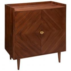 Buffet 2 portes en bois d'acacia ROXAS, TO FEEL GOOD - Marron détail doré