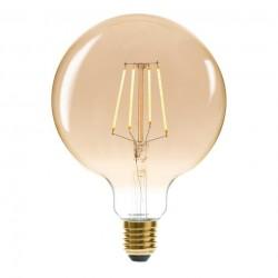 Ampoule LED 4W filament droit D12,5cm GLOBE - Ambre