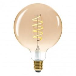 Ampoule LED 4W filament torsadé D12,5cm GLOBE - Ambre