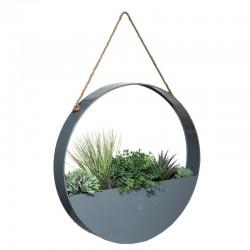 Suspension en métal de plantes artificielles D44cm THE GREEN HOUSE - Gris