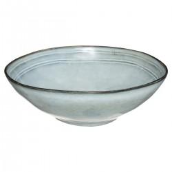Saladier en céramique D24cm FLOWER FACTORY - Bleu clair