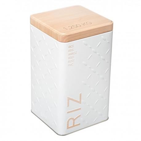 Boîte à riz 1,25kg SCANDI NATURE BR6 - Blanc