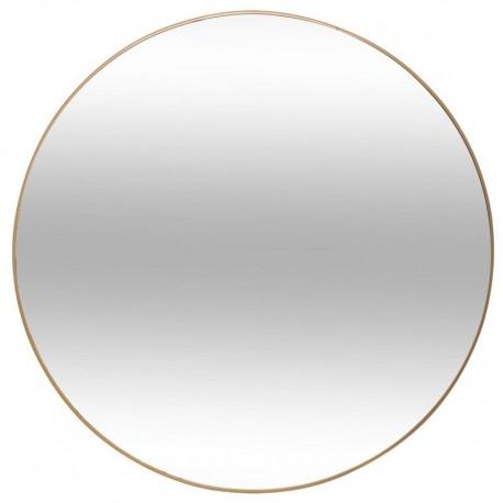 Miroir contour en aluminium fin D76cm ALICE - Doré
