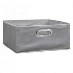 Boîte à rangement 15X31cm MIX'nMODUL - Gris clair chiné