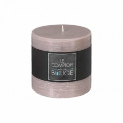 Bougie rustique ronde H10 - Taupe