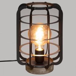 Lampe H28cm BERRY - Gris foncé