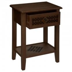 Table de chevet en bois OASIS - Marron foncé