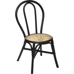 Chaise en cannage KAMARI - Noir