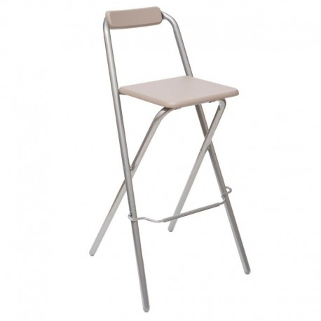 Tabouret de bar pliable LOUNA - Taupe
