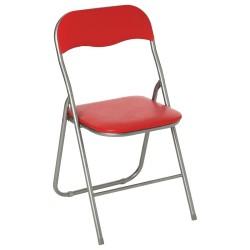 Chaise pliante BASIC - Rouge