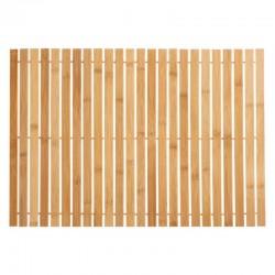 Caillebotis à rouler en bambou 40X60cm - Naturel