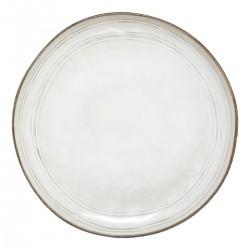 Assiette plate en céramique D26cm FLOWER FACTORY - Gris crème