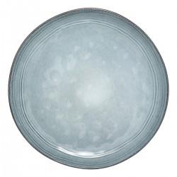 Assiette plate en céramique D26cm FLOWER FACTORY - Bleu clair