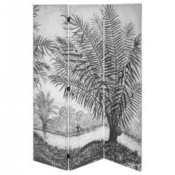 Paravent à imprimé H170cm THE CUBA FACTORY - Noir et blanc