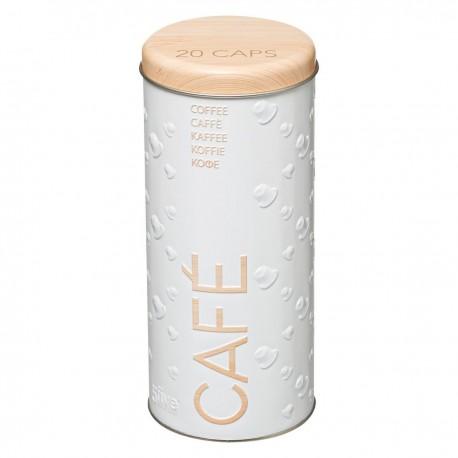 Boîte à capsules de café SCANDI NATURE BR6 - Blanc