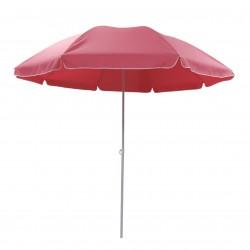 Parasol de plage D240cm ARDÉA - Framboise