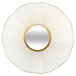 Miroir soleil en métal D97cm JODIE - Doré