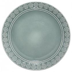 Assiette plate D27cm IDYLLE FOLK - Bleu