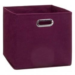 Boîte à rangement 31X31cm MIX'nMODUL - Aubergine