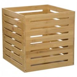Boîte à rangement en bambou plein 31X31cm - Naturel