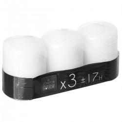 Lot de 3 bougies H7,5cm - Blanc