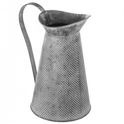 Carafe en métal H28cm SPRING GARDEN - Gris blanchi