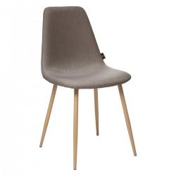 Chaise en tissu ROKA - Taupe