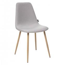 Chaise en tissu ROKA - Gris clair