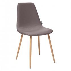 Chaise en tissu ROKA - Gris foncé